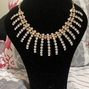Spider bib necklace
